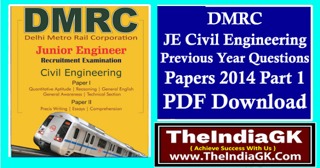 DMRC JE Civil Engineering Previous Year Questions Papers 2014 Part 1 PDF Download