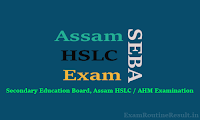 assam hslc routine 2018 seba assam exam schedule pdf download