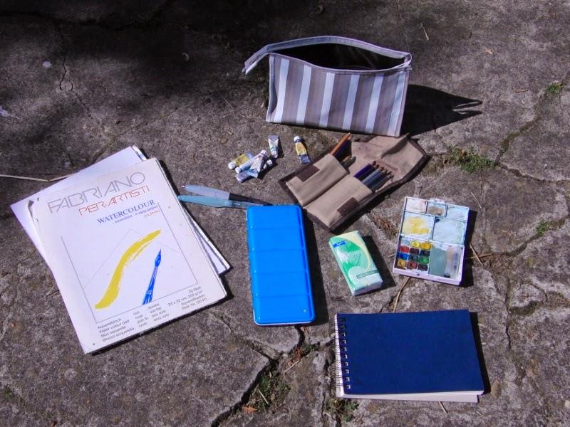plein air, lessen buitentekenen, buitentekenen, tekentips