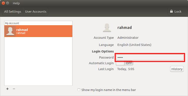 Mengganti Password User Root di Linux Ubuntu