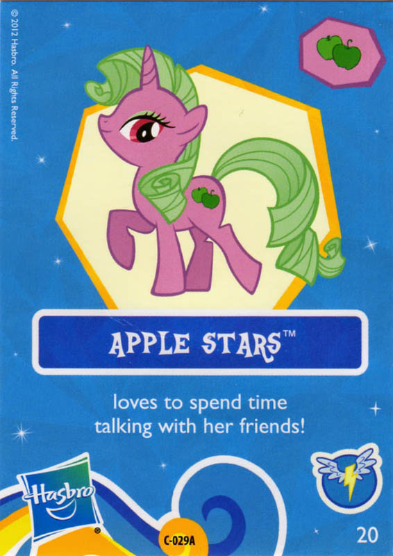mlp apple stars blind bag cards