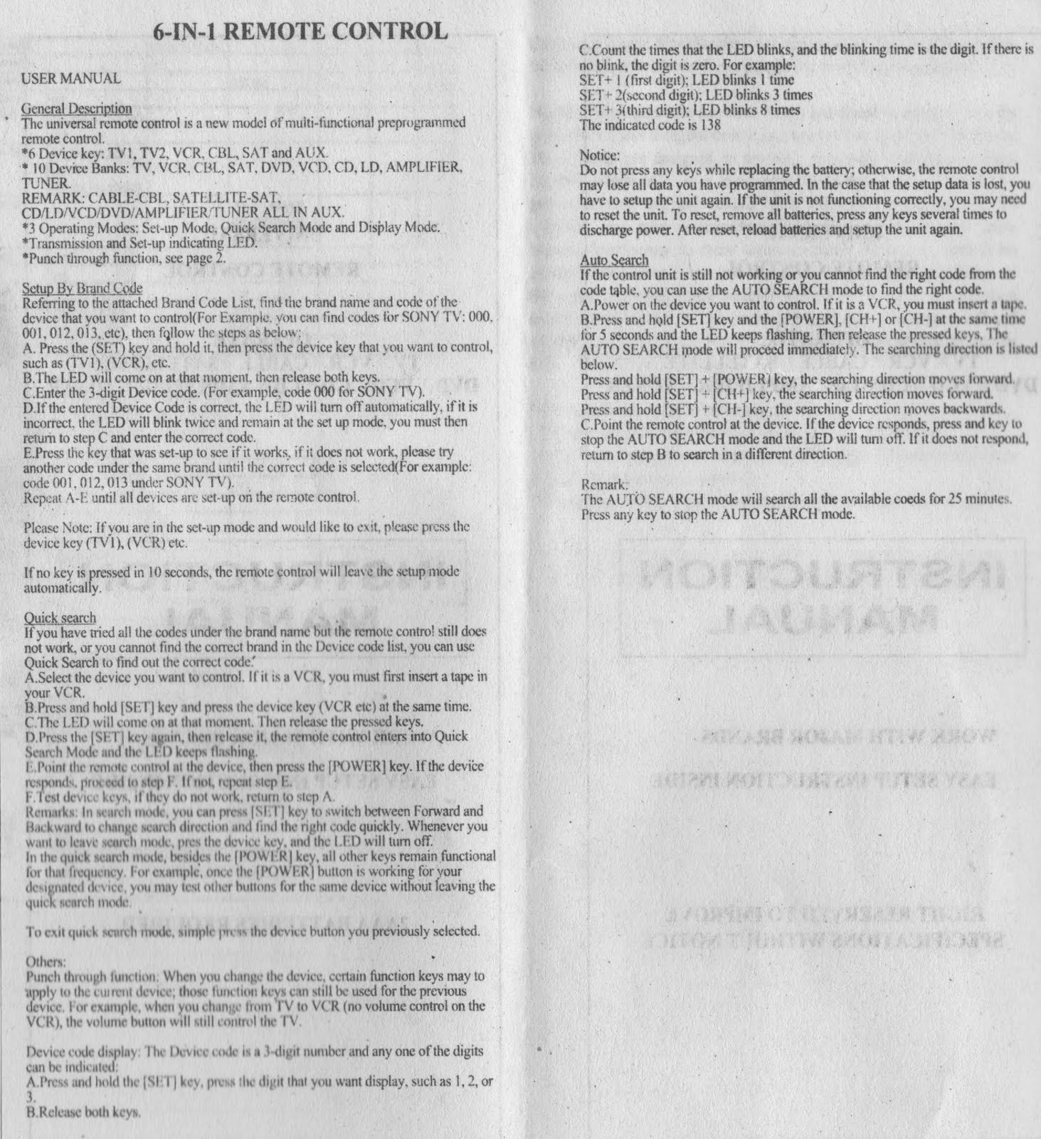 Rca Universal Remote Codes Rcr314wr