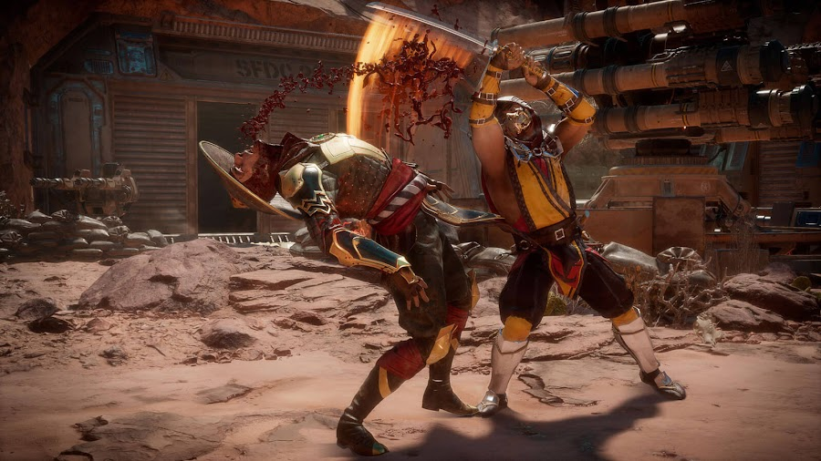 mortal kombat 11 netherrealm dark raiden vs scorpion