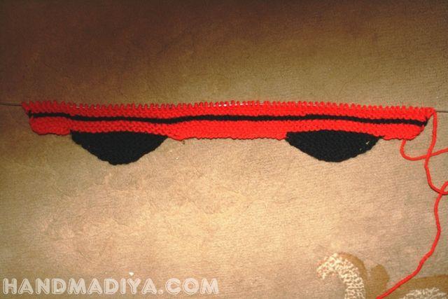 Детская вязаная шапочка. Children's knitted cap