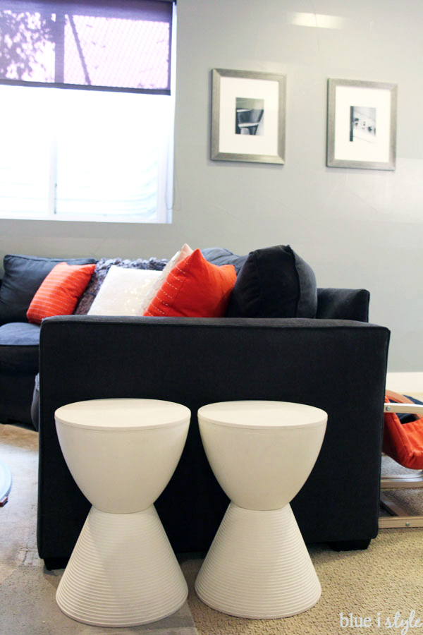 Sally stools as side tables