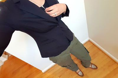 OOTD Blazer and Cargo Pants