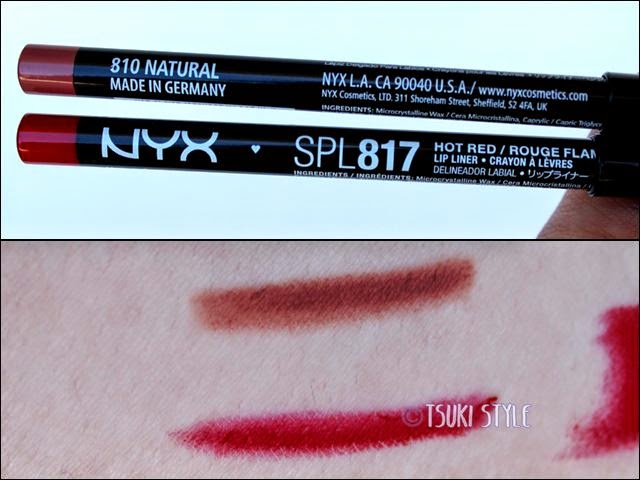 lip liner natural hot red nyx