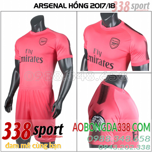 áo arsenal hồng training 2018