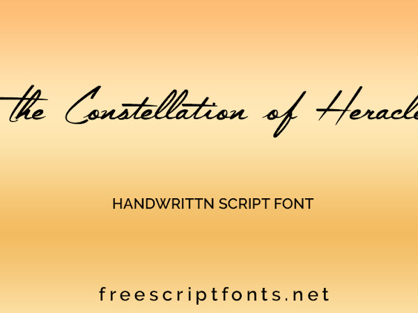 The Constellation of Heracles Script Font Free Download