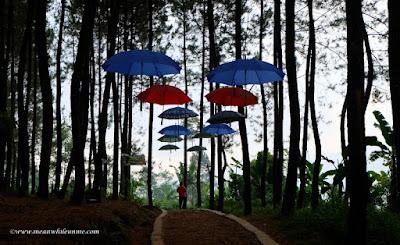 Payung warna-warni kreasi Curug Lawe