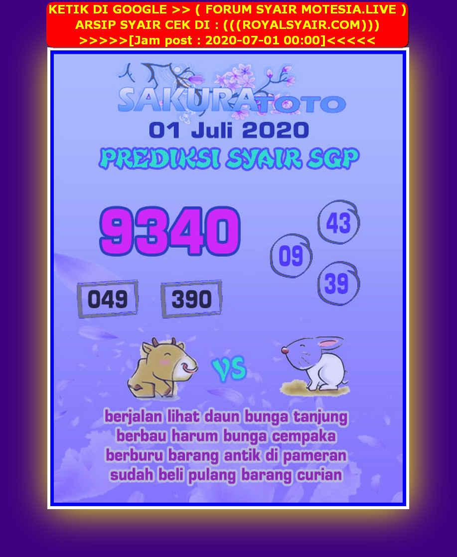 Kode syair Singapore Rabu 1 Juli 2020 225