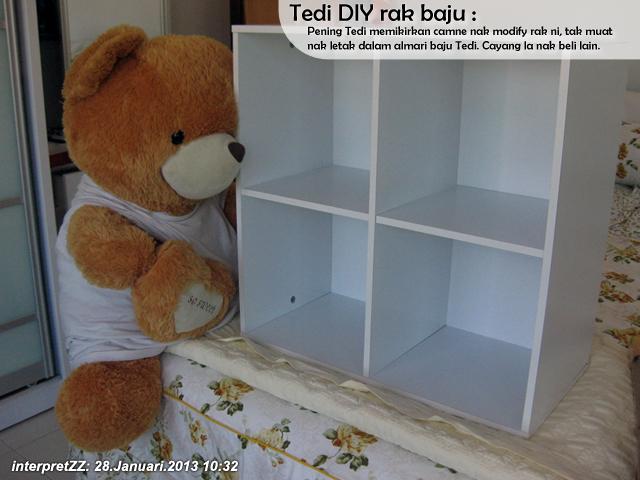 DIY: Tedi ubahsuai rak baju