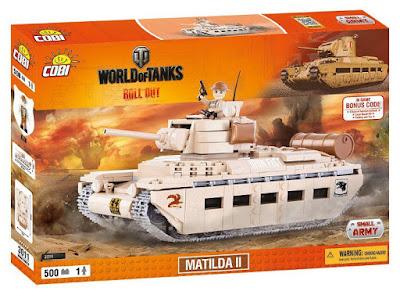 TOYS : JUGUETES - COBI World of Tanks  Matilda II : Tanque  2016 | Juego de Construcción   Piezas: 500 | Edad: +8 años  Comprar en Amazon España