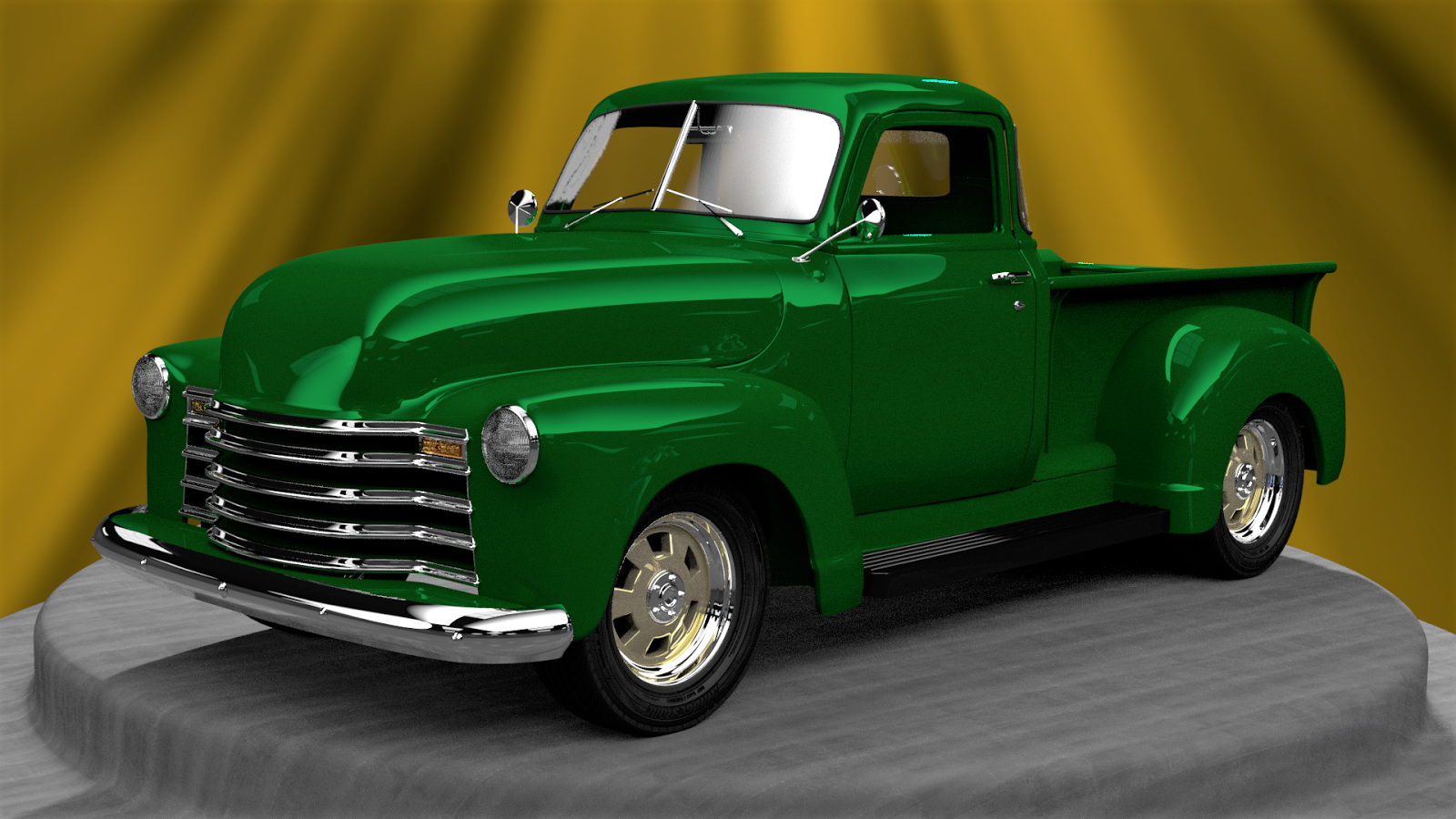The Tinkers Workshop My 1951 Chevy Blender 3d Pickup Truck Is Chevrolet Custom Hot Rod I Had To Do Research Online Find 90 Plus Photos Needed For Modeling Of This Included Everything From Tires Windshield