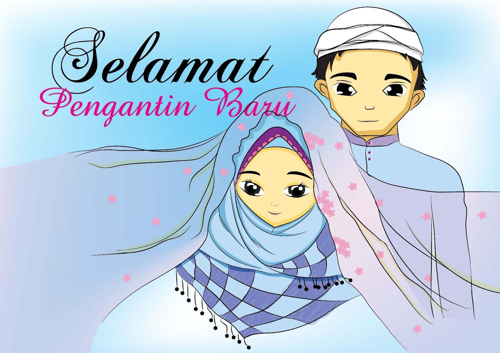 Gambar Kartun Muslimah Pengantin Baru Bilik Wallpaper
