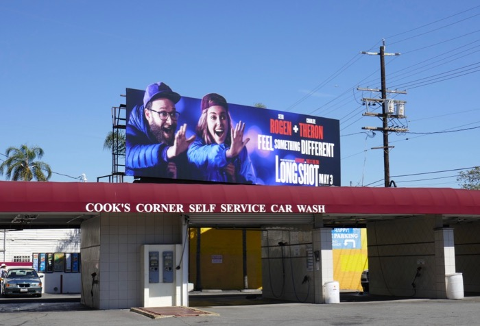 Long Shot cut-out billboard