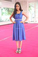 Divya Nandini stunning Beauty in blue Dress at Trendz Exhibition Launch ~  Celebrities Galleries 086.JPG