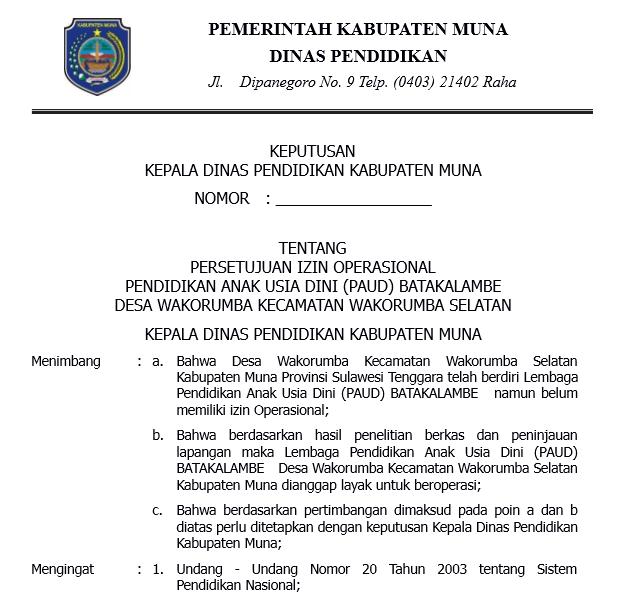 Contoh Berkas Surat Permohonan Izin Operasional Sekolah Paud Lengkap Siap Cetak Wikiedukasi Paud