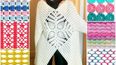 Puntos y cárdigan los trabajos a crochet de Kristina Bogdanova