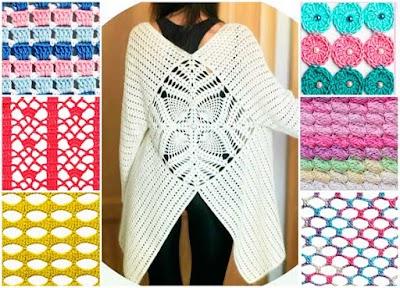 Puntos y cárdigan trabajos crochet Kristina Bogdanova