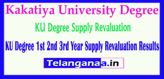 KU Degree Supply Revaluation 1st 2nd 3rd Year Results