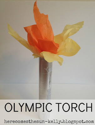Olympic Torch Craft I herecomesthesunblog.net