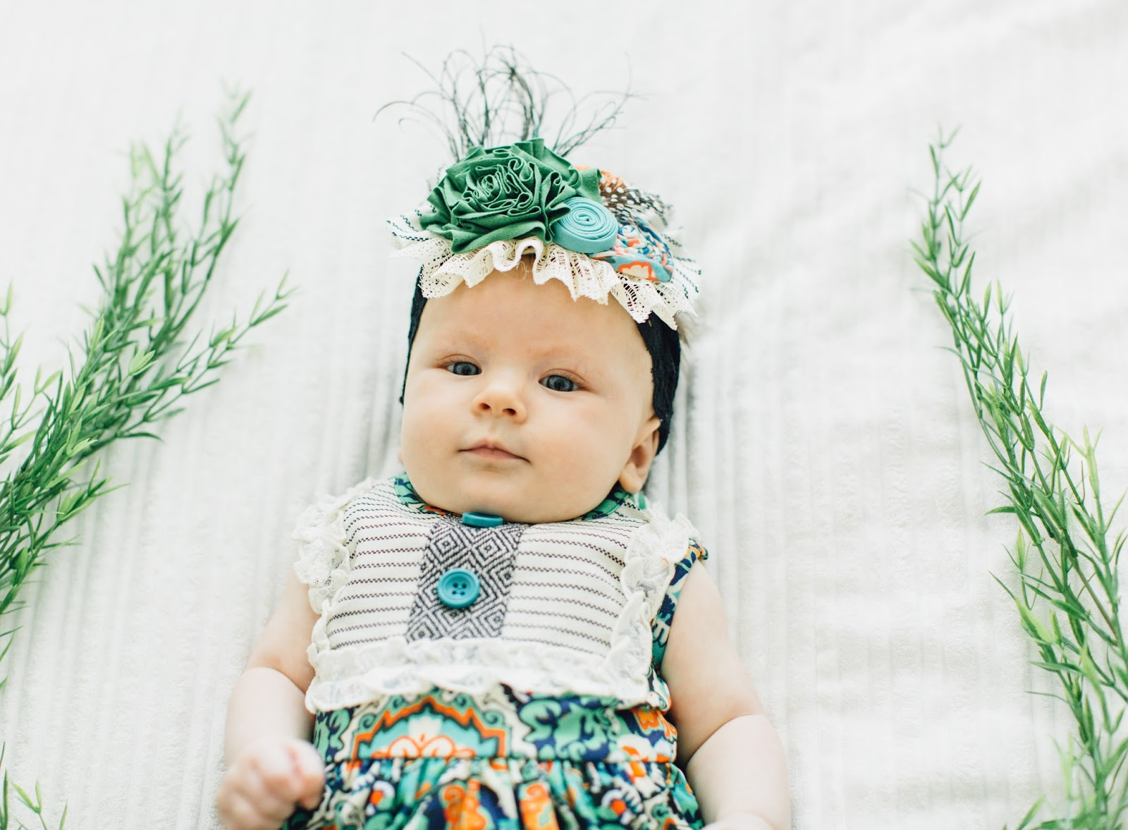 Persnickety Clothing, Baby Headband, Lace