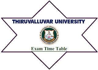 Thiruvalluvar University Time Table Nov Dec 2018