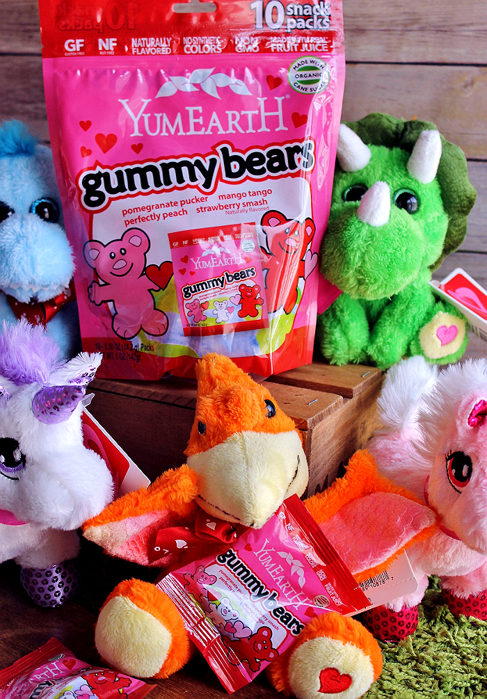 "Make Valentine's Day fun for everyone with allergy friendly celebration solutions. PAss out YumEarth Organics all natural nut and gluten free gummy bears, make Love Bug headbands, and grab our FREE ""You Make My Heart Glow"" Valentines printables! #AD"