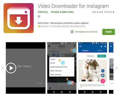 Aplikasi Download Video dan Foto IG atau Instagram