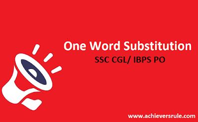 English Grammar: One Word Substitution