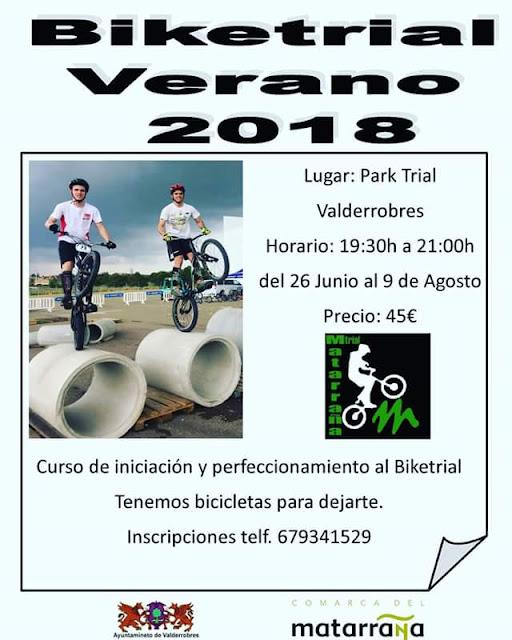Cursos trial Valderrobres , biketrial