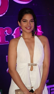 Actress Tanya Choudhary Stills in White Dress at Apsara Awards 2016 0007.jpg
