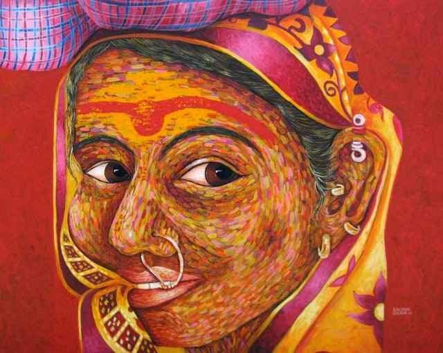 Индийская художница. Kalyani Gulage