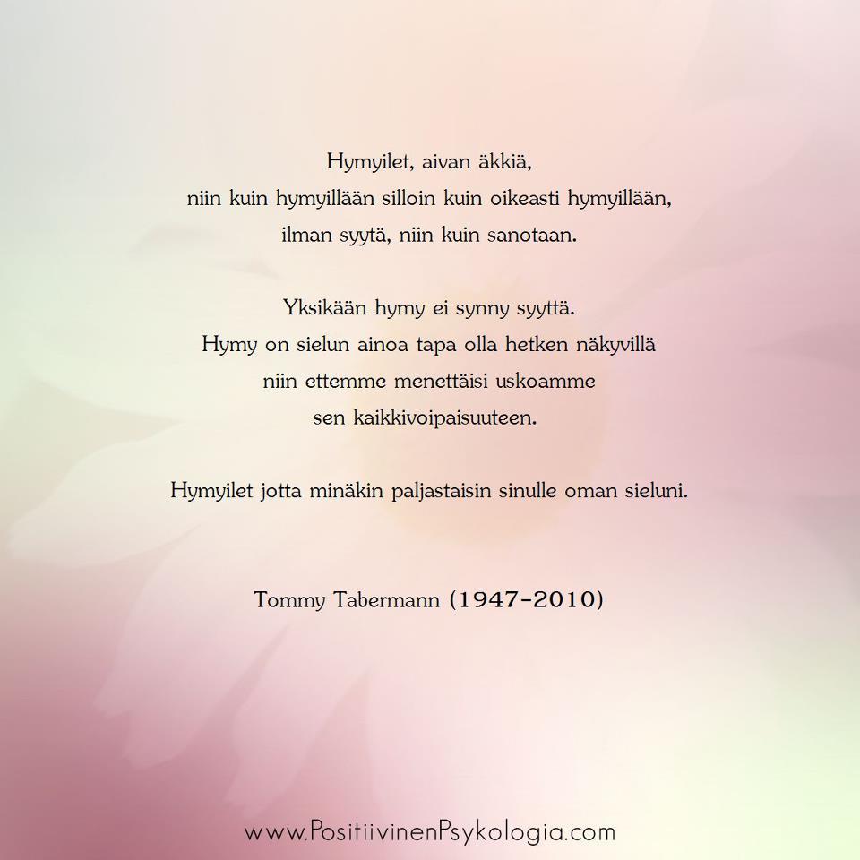 Tommy Tabermannin Runoja