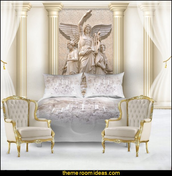 Roman Column Sculpture wallpaper mural   mythology theme bedrooms - greek theme room - roman theme rooms - angelic heavenly realm theme decorating ideas - Greek Mythology Decorations -  angel wall lights - angel wings decor - angel theme bedroom ideas - greek mythology decorating ideas - Ancient Greek Corinthian Column - Spartan Warrior Gladiators - Greek gods - Angel themed baby room - angel decor - cloud murals - heaven murals - angel murals ethereal - greek key pattern - cupid theme bedrooms - cherub throw pillows - greek roman decor  - Column Wall Sculpture -  French Provincial furniture