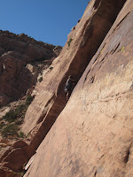 Trad climbing in the Colorado National Monument