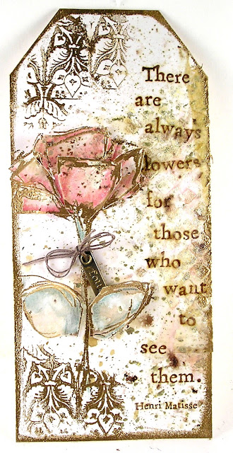 Dina Wakely Always Flowers Stampers Anonymous Fragments Ranger Tim Holtz Layering Stencil Gradient Square For the Funkie Junkie Boutique