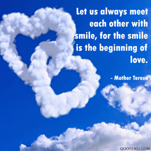 Mother Teresa Quotes About Love and Smiles