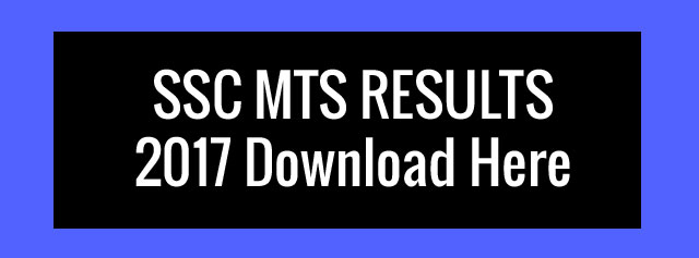 SSC MTS Results 2017