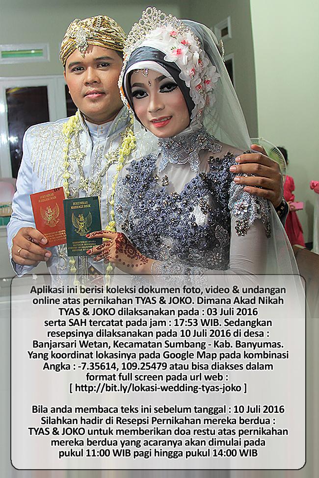 Images / Photo untuk Tampilan Play Store Wedding TYAS & JOKO | Klikmg Fotografer Wedding Purwokerto / Banyumas | Tren Wedding 2016