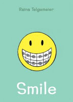 book cover of Smile by Raina Telegemeier published by Scholastic