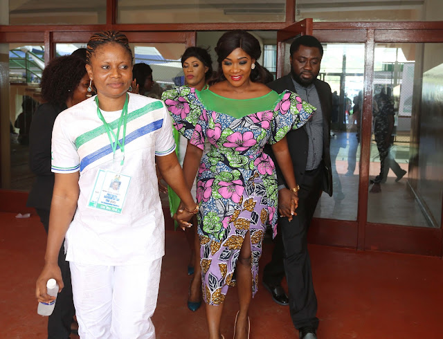 Mercy Johnson-Okojie and husband hosted by Sierra Leone President Julius Maada-Bio and his wife at their home