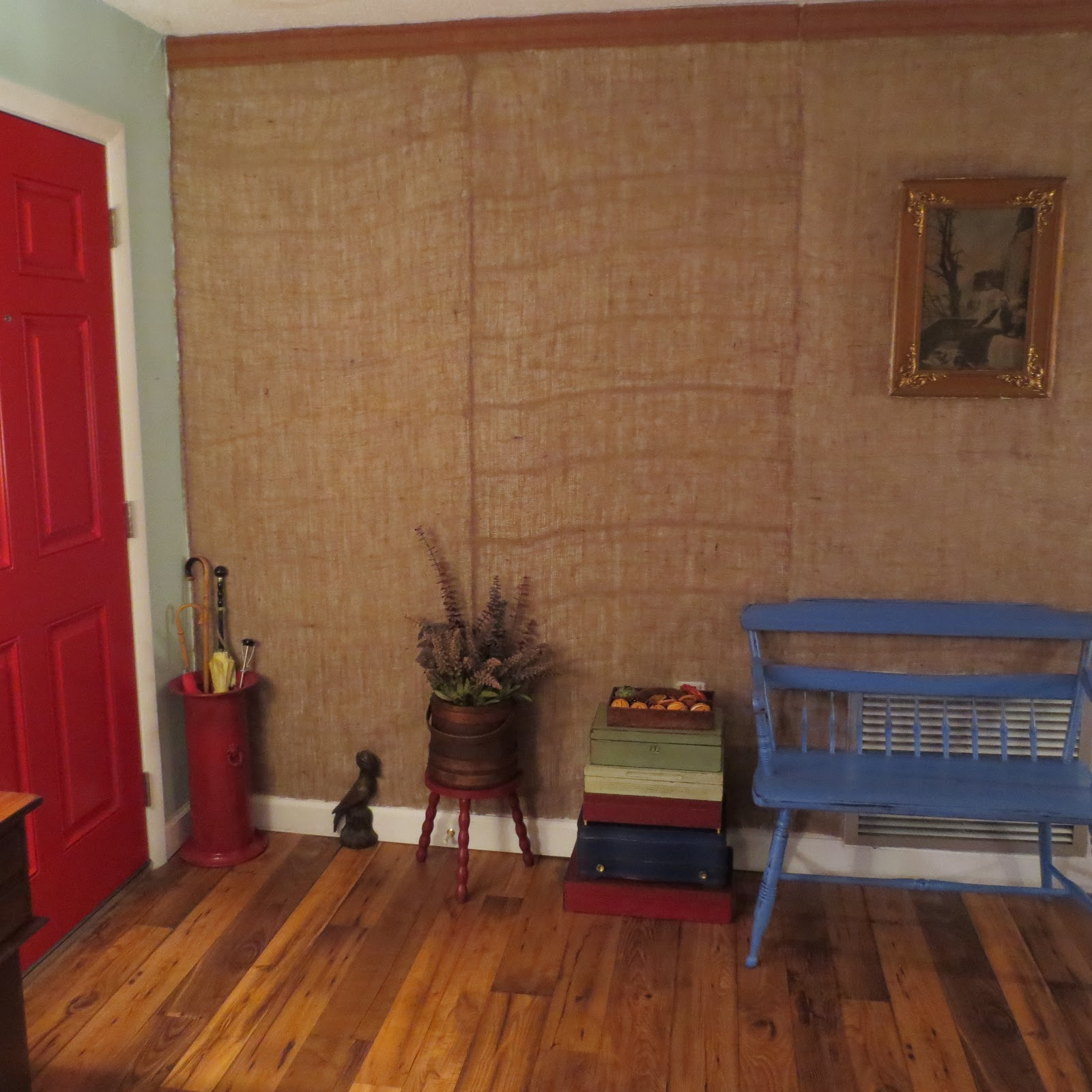 Red shed vintage trash talk tuesdays tutorial a How to disguise wood paneling
