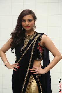 Priyanka Ramana in Beautiful Designer Black Saree At We Craft Elegance Expo Launch 034.JPG