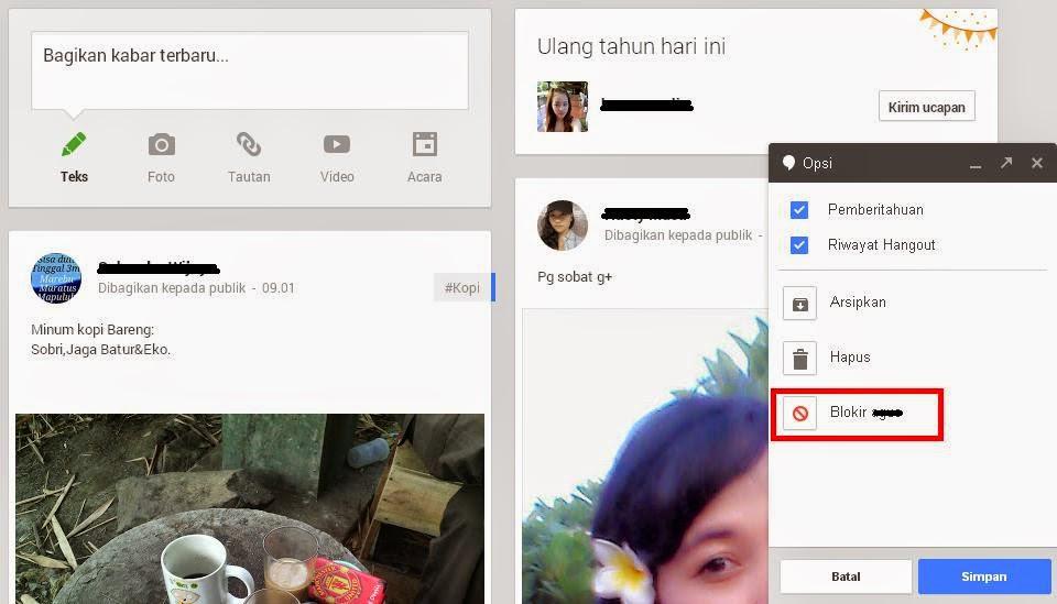 Cara Memblokir Teman di Hangouts Google Plus