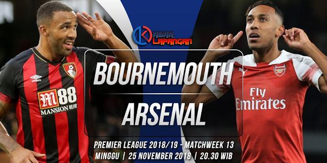 Prediksi Bola Bournemouth vs Arsenal Liga Inggris
