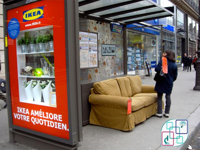 """موقف إنتظار الحافلات من """"Ikea's """""""