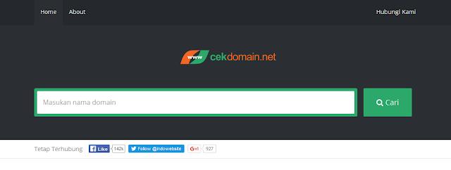 Cara Cek Ketersedian Domain Menggunakan Tools Gratis