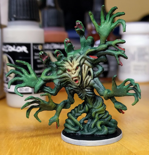 Painted Medusa model